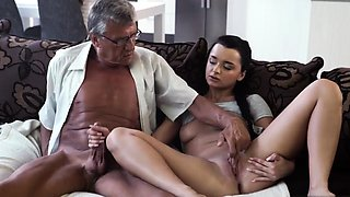 Daddy fucks playmate' partner's daughter and old man