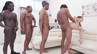 Ginebra Bellucci is always in the mood for an interracial, group fuck and an intense orgasm