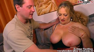 German Mature Chubby Housewife Mom With Big Natural Tits