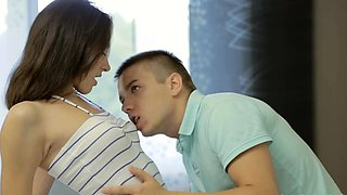 Hot-tempered russian Adell does a perfect blowjob