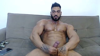(CUM) Muscle Hunk Eats His Own Cum - Special