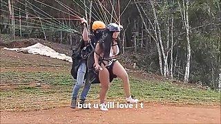 Mi Primera Vez Haciendo Paracaidismo Y Me Corri Con Mi Lush 3 En El Aire Y Me Follo Con Mi Dildo