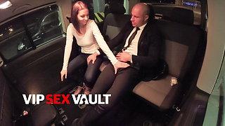 VIP SEX VAULT - Antonia & Leny Hook Up Fun On The Back Seat
