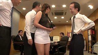 Exotic Japanese whore in Horny MILF, Office JAV clip