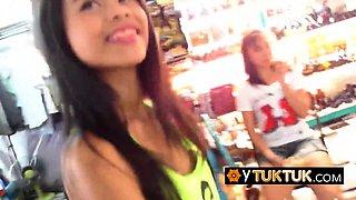 Skinny FILIPINA small tits and nipples grabbed by STRANGER