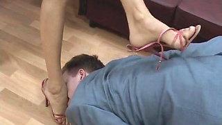 Feet worship. Russian mistress