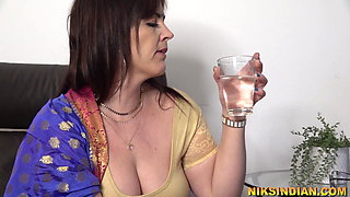 Hot Big Ass Indian MILF enjoys anal sex with young son