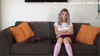 Tieny Mieny. The Youngest Virgin With Shows Her Hymen And Masturbates