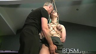 Really Hot Babe Punished, Plus Femdom With Ebony Domina And Her Male Slave