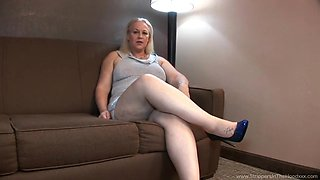 Blonde Milf Enjoys A Black Studs Cock
