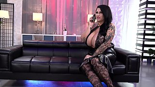 Big titty tattooed milf Samantha Mack gets fucked