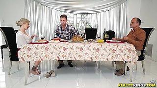 MILF and teen Evelin and Blake share cock