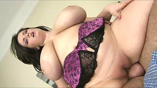Arianna riding cock as her big ass boobies bounce up and