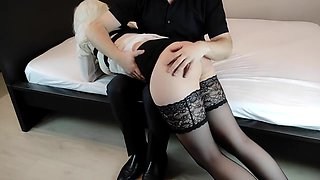 Strict Couple Spanks And Whips Their Sub With A Cane