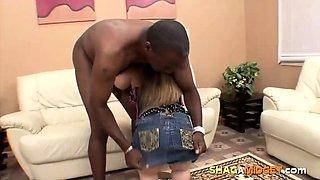 Brunette Midget Girl Fucked by Black Guy