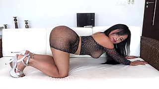 Big Ass Latina MILF Addy Gets Her First Double Anal Penetration From Two Guys