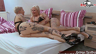 german hardcore anal lesiban fitness threesome with tattoo babes