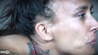 tattooed slut gets whipped and has her ass hole invaded
