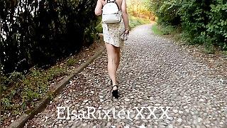 My walk in the park without panties. ElsaRixterXXX