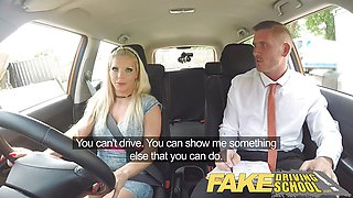Hot Fake Driving School Barbie earns her pass with a facial