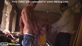 Yani in one nasty bimbo enjoys a hot gangbang porno