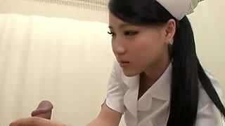 Cute Japanese Girl Nurse Blowjob
