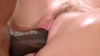 Natalia Starr - Strong Black Man Roughly Pulled The Slender Blonde In The Position Of