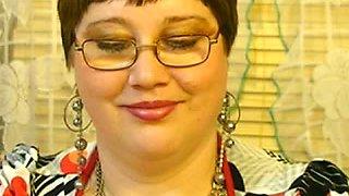 Mature fatty aunty does kinky webcam session