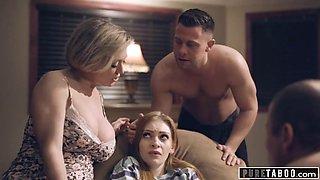 Pure taboo stepparents &amp stepbro welcome new sister
