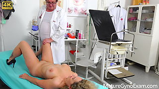 Rectal speculum exam of hot big busty woman Ameli Monk