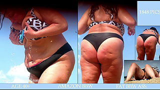 BBW and SSBBW beach candid all covers