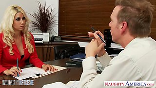 Hot boss Jazy Berlin is a delightful beauty with a real taste for fucking