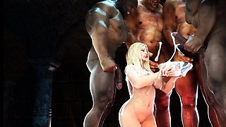 3D Slave Girls Ravaged by Orcs!