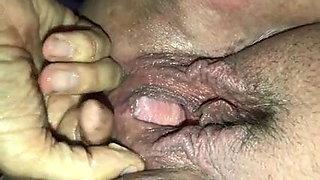 Grandpa fingers grandma's ass