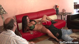 Eating Out a Housewife Next to Her Cuckold Compilation