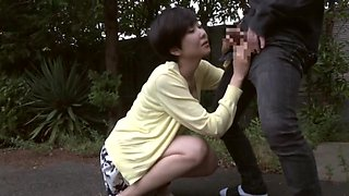Japanese mature throats random man's tasty dick