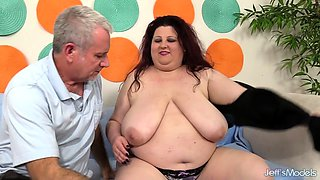 BBW Stazi Has Her Huge Tits and Belly Worshipped and Then