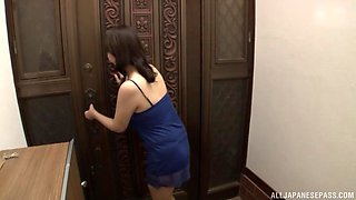 Horny Japanese housewife Ono Sachiko gets fucked in the bedroom