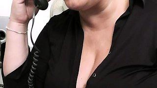 Boss fucks big tits secretary in office