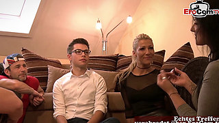 german milf fucks younger guy after party