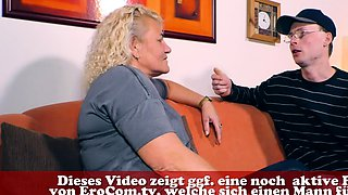 german blonde mature mother fucks her son
