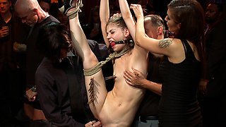 Super Flexible Sensi Pearl Gets Tied Up And Fucked - PublicDisgrace