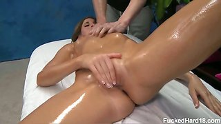 Kara seduced and fucked hard by her massage therapist
