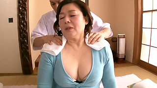 Mature Asian BBW Shizuko Ouchi fucked hard