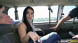 Hardcore fucking in back of the van with hot ass Jessica Jewelz