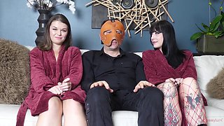 Charlotte Sartre And Anastasia Rose In Analhell - Girl Abused And Gets All Her Holesf Filled With Huge Dildos