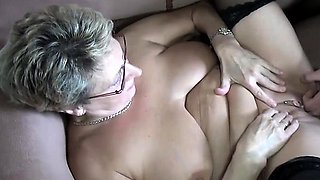 Horny grey gilf just wants a young boy to fuck