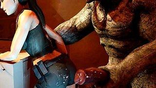 3D Girls Ravaged by Dark Creatures!