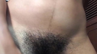 Gorgeous hairy Latina at play
