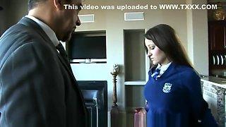 Dani Daniels - Spanking Bent Over In School Uniform (2016)
